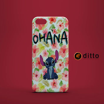 STITCH OHANA DISNEY Design Custom Case by ditto! for iPhone 6 6 Plus iPhone 5 5s 5c iPhone 4 4s Samsung Galaxy s3 s4 & s5 and Note 2 3 4