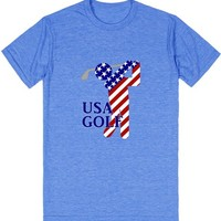 USA All American Male Golfer | T-Shirt | SKREENED