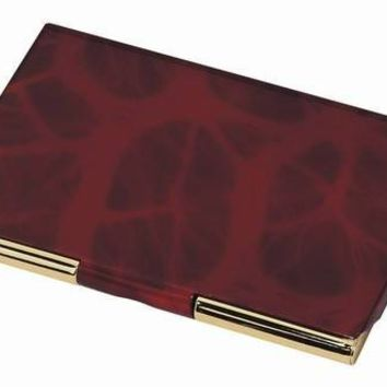 Free Engraving Personalized Business Card Holder Black White Burgundy Office Gifts