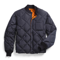 Liner Down Jacket In Navy
