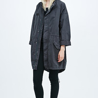 BDG Micro Sanded Parka in Grey - Urban Outfitters