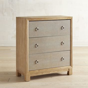 Sidney Natural Whitewash 3-Drawer Chest