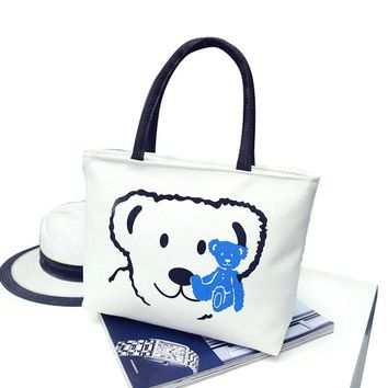 2017 New Women's Handbags Fashion Shoulder Bags Messenger Bag Cute Cartoon Pattern Mickey Hello Kitty Tote Shopping Bag Bolsas