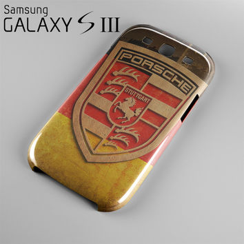Porsche Logo Case For Samsung Galaxy S3, S4, S5