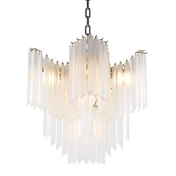 Frosted Glass Chandelier | Eichholtz Pulsar