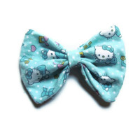Adorable Turqouise Baby Hello Kitty Hair Bow