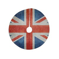 "Bruce Stanfield ""UK Union Jack Flag"" Red Blue Tree Skirt"