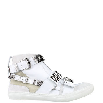 Toga Pulla Hardware suede and leather sneakers
