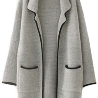 Solid Thermal Cashmere Sweater Coat - OASAP.com