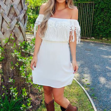 Swoon About It Dress: White