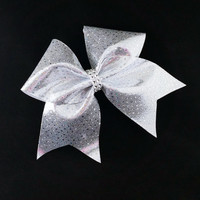 Cheer bow, Sliver cheer bow, sequin cheer bow, cheerleading bow, cheerleader bow, cheerbow, softball bow, pop warner cheer bow, dance bow