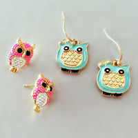 Adorable Owl Earring Set