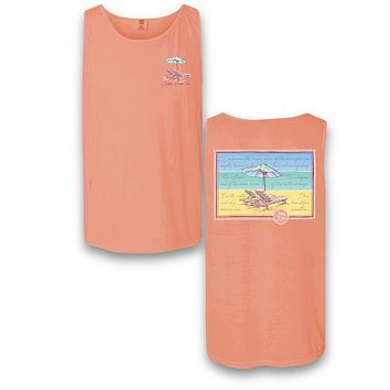 Sassy Frass Embrace the Sun Beach Comfort Colors Bright T Shirt Tank Top