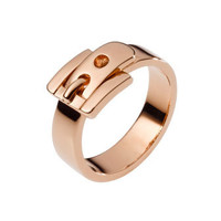 Michael Kors Buckle Ring, Rose Golden - Michael Kors