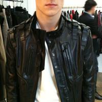 Indie Designs Lambskin Leather Military Jacket