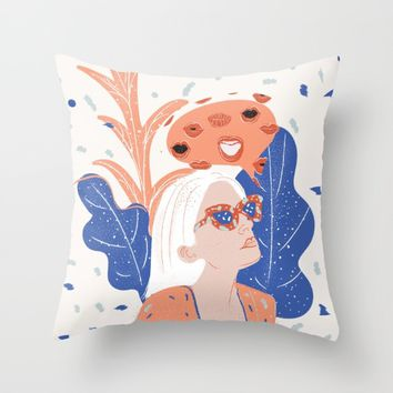 Thinkin About Kissin You Throw Pillow by chotnelle