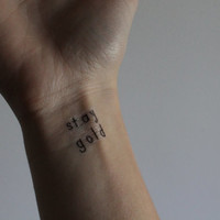 "The Outsiders Temporary Tattoo ""Stay Gold"""