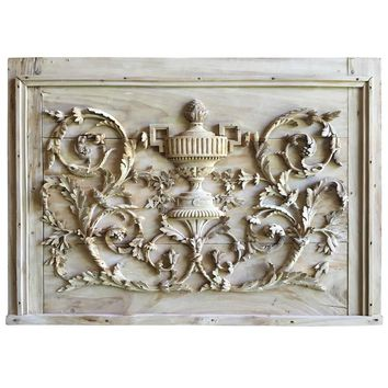 Louis XVI Period Carved Trophy Panel, 18th Century