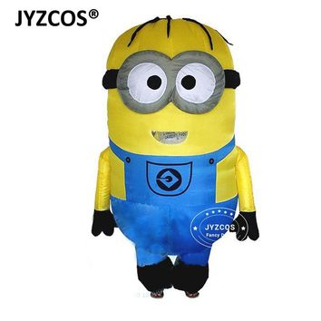 JYZCOS Inflatable Minion Costumes for Adults Purim Halloween Cosplay Party Despicable Me Mascot Air blow Up Outfits Fancy Dress