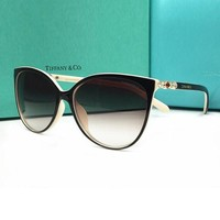Tiffany Fashion Unisex Personality Summer Sun Shades Eyeglasses Glasses Sunglasses Beige+Black I