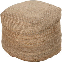 Braided Jute Hand Made Pouf - Home Accents | Surya