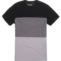 Hurley Blockade Crew T-Shirt - Mens Tee - Black -