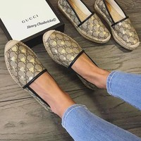 GUCCI Honeybee printing shoe single shoes
