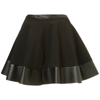 Black Contrast Hem Skirt - Skirts - Clothing - Topshop USA