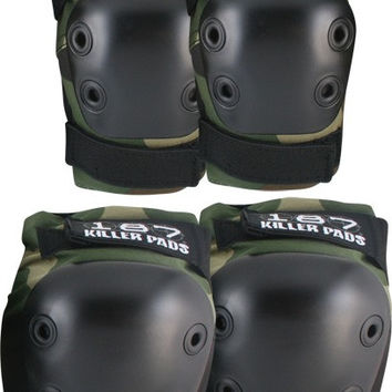 187 Combo Pack Knee/Elbow Pad Set Small/Medium Camo