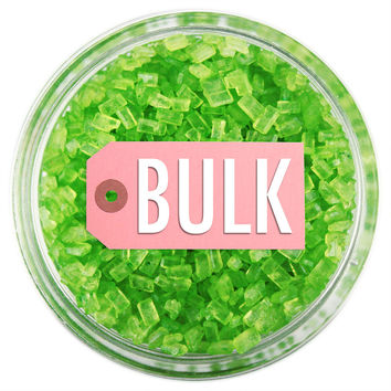 Lime Green Chunky Sugar BULK