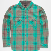 Imperial Motion Teflon Mens Flannel Shirt Aqua  In Sizes