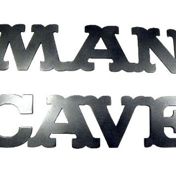 Man Cave Words Metal Wall Art Home Decor