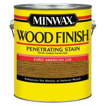 Minwax® 71078 Wood Finish™ 250 VOC Compliant Penetrating Stain, Early American, 1 Gal