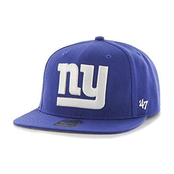 NFL New York Giants '47 Super Shot Captain Adjustable Hat, One Size Fits Most, Royal