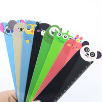 New Creative Cartoon Animal Doll Series Pvc Ruler Bookmark 15 Cm Straight Ruler School School Supplies