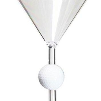 Diligence4us AS-0306 Golf Ball Wine Martini Glass, Set of 4, Clear