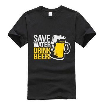 Save Water Drink Beer Funny T-Shirt - Alcohol Tee