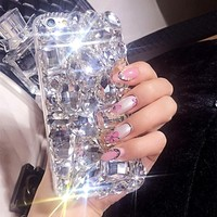 Big Rhinestone Diamond Super Bling Phone Case Cover