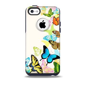 The Colorful Vector Butterflies Skin for the iPhone 5c OtterBox Commuter Case
