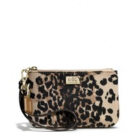 Coach :: New Madison Small Wristlet In Ocelot Print Fabric