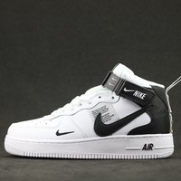 [Free Shipping ]Nike Air Force 1 Mid'07 Lv8 804609-103  Basketball Shoes