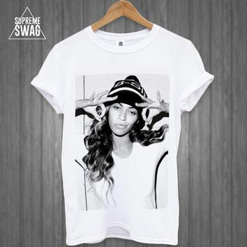 Beyonce Mens Swag Hipster T Shirt New Fresh Womens Homies Dope Music Pop Fresh Tank Top