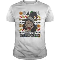 Smiling Witch Ugly Holiday Shirt Happy Halloween