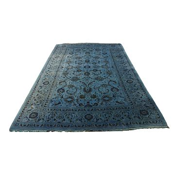 7x10 Vintage Teal Rug Overdyed Persian Blue 2827