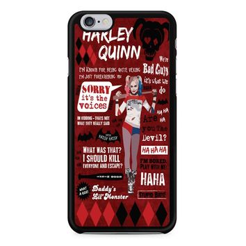 Harley Quinn Quote 2 iPhone 6/6s Case