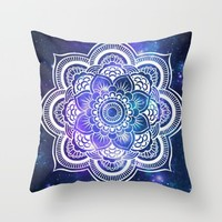 Mandala: Violet & Teal Galaxy Throw Pillow by 2sweet4words Designs