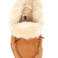 Minnetonka | Minnetonka Trina Collared Faux Fur Lined Bootie Slipper | Nordstrom Rack