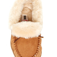 Minnetonka | Trina Collared Faux Fur Lined Bootie Slipper | Nordstrom Rack