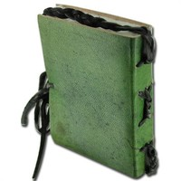 Medieval Handcrafted Diary Leather Celtic Book of the Heart Journal Green