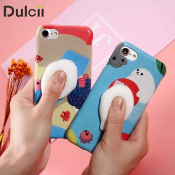 i6s i6+ Funda Cute Squishy Baby Seal Soft Phone Cover for Apple iPhone 6 6s Plus 6plus 7 7Plus i7 i7+ Lovely Cellphone Cases